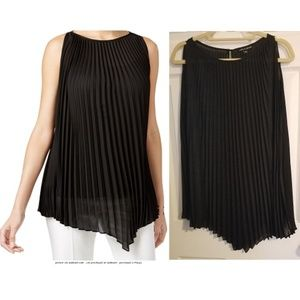 Cable & Gage Black Shear Pleated Pullover XL